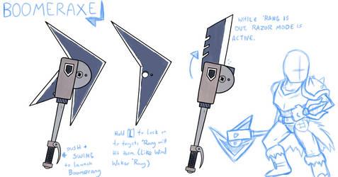 Monster Hunter Weapon Idea: Boomeraxe by SkidMarc25