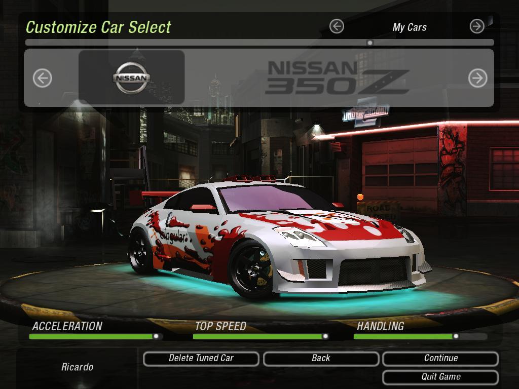 NFS Underground 2 - Nissan 350Z (Z33) by 850i on DeviantArt