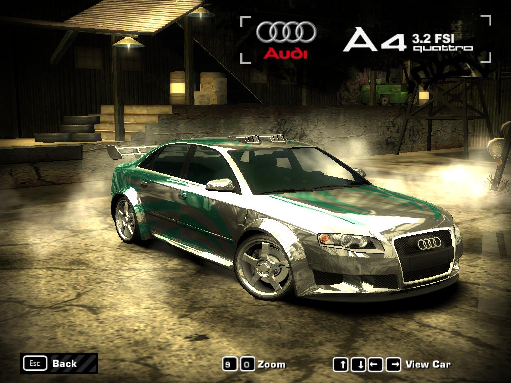 nfs most wanted 2005 audi a4 3 2 fsi quattro by 850i on deviantart. Black Bedroom Furniture Sets. Home Design Ideas