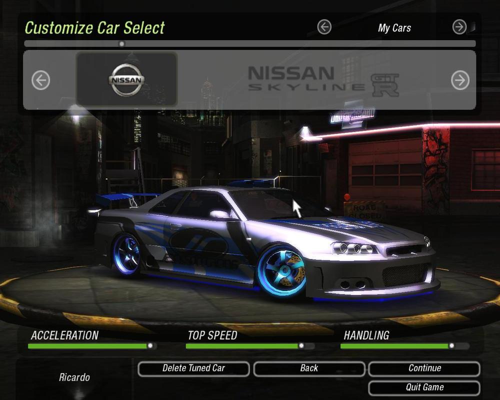 NFS Underground 2 - Nissan Skyline GTR R34 by 850i on ...
