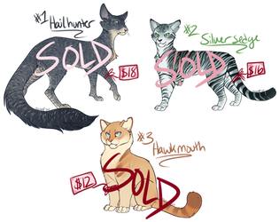 Cat Adoptables Batch 5 [SOLD] by Machati