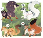 Squirrel Adoptables [SOLD]