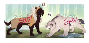 Smilodon Adopts [AUCTION -- CLOSED]