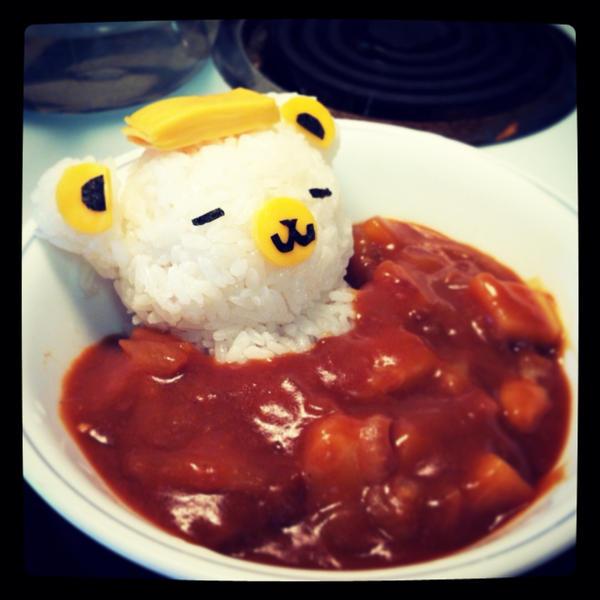 Rilakkuma's Hot Spring Curry Bath by rltan888