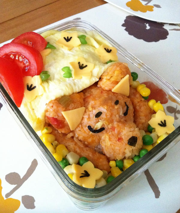 Cute Sleeping Dog Bento by rltan888