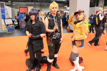 FF15 Noctis, Prompto and Cindy by SeanMaguire1991
