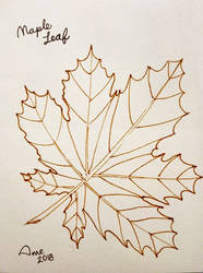 Inktober 2018 - 01 Maple Leaf by mieame