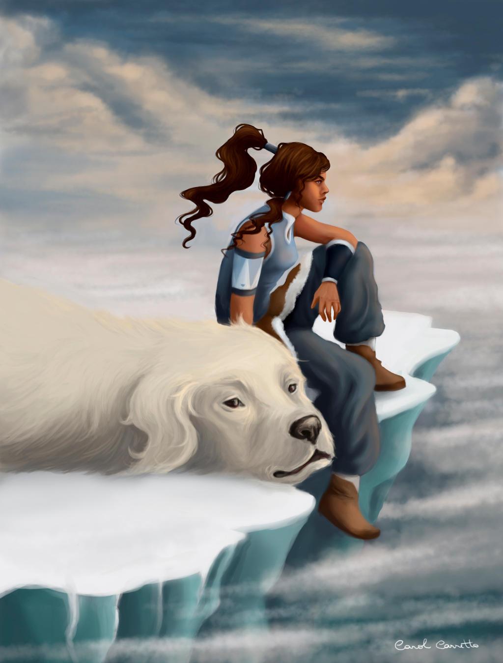 Korra Paintover by DreamingCarol
