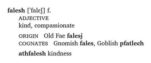 FairyLang Day 24: Falesh by JohnRaptor