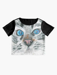 Blue eyes T-shirt by safija36