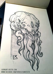 Cthulhu Head Study by TentaclesandTeeth