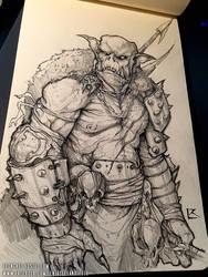 Orc Sketch by TentaclesandTeeth