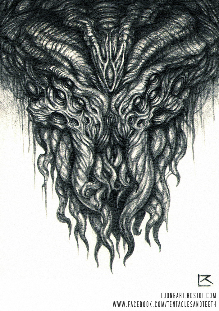 Cthulhu Pencil Drawing By TentaclesandTeeth