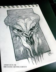 Cthulhu Sketch by TentaclesandTeeth