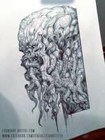 Cthulhu drawing WIP