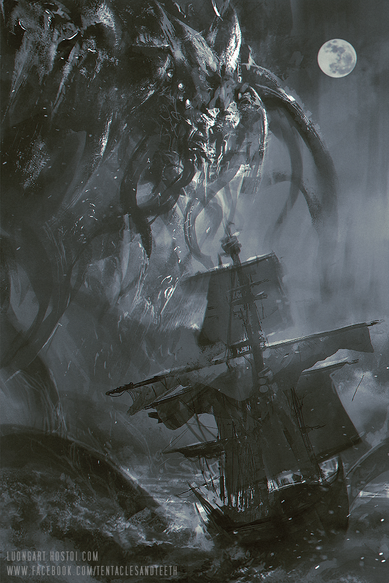 Cthulhu Cover Sketch by TentaclesandTeeth