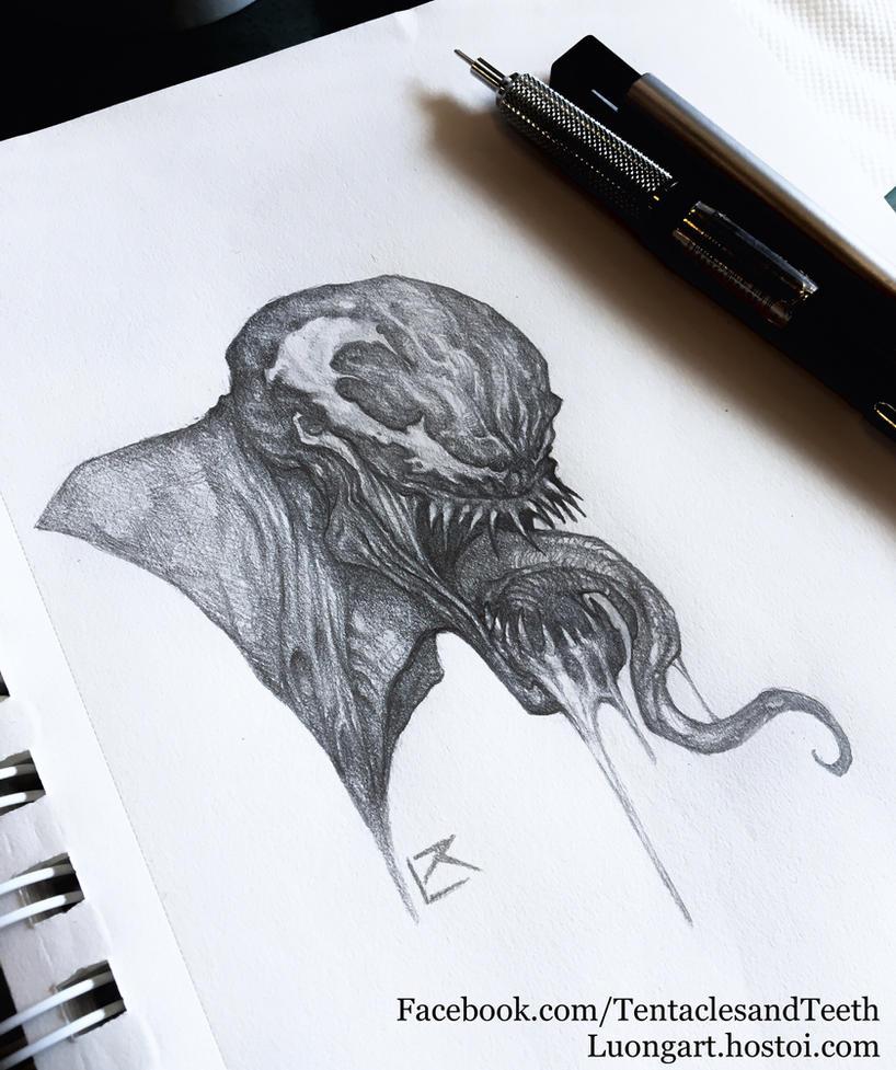 Venom drawing by TentaclesandTeeth