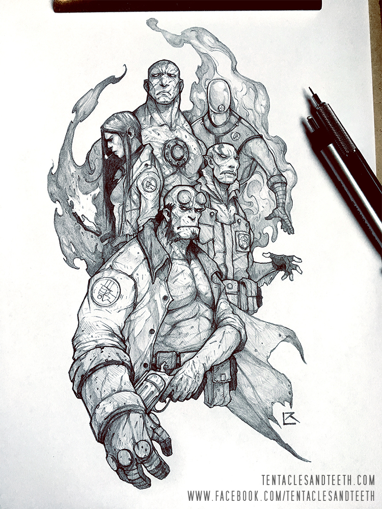 Hellboy BPRD by TentaclesandTeeth