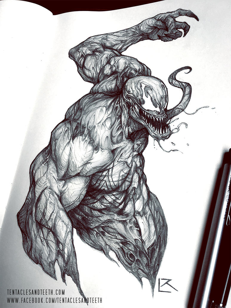 Venom Drawing by TentaclesandTeeth