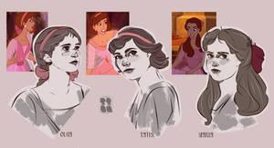 Disney Style Romanov Sisters // Anastasia 1997