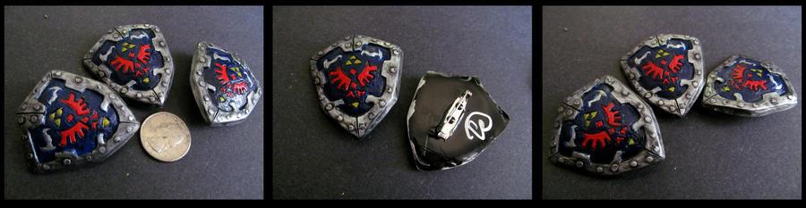 Legend of Zelda Hylian Shield Pin by Riskyo