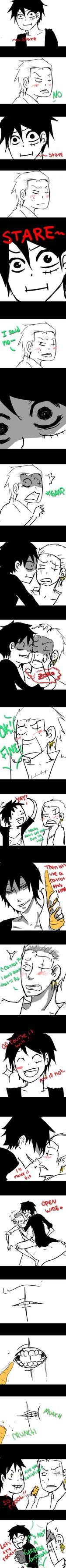 Luffy's Persuasion Method by Minuu-chan