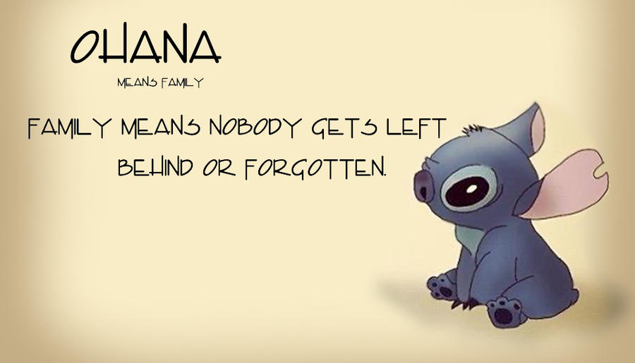 Stitch: Ohana by DottyTheKitty on DeviantArt
