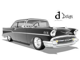 57 Chevy Belair by 3Daniel