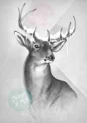 X-Ma$ Cards_deer by 10lohuis