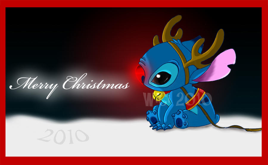 Lilo And Stitch Christmas Wallpaper Merry Xmas 2010 By Wici14 On DeviantArt