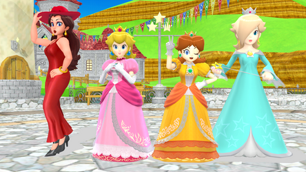 [MMD] Super Mario Girls