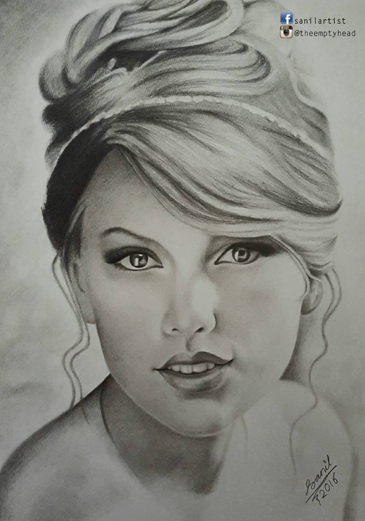 Pencil drawing of taylor swift by sanilartist on deviantart
