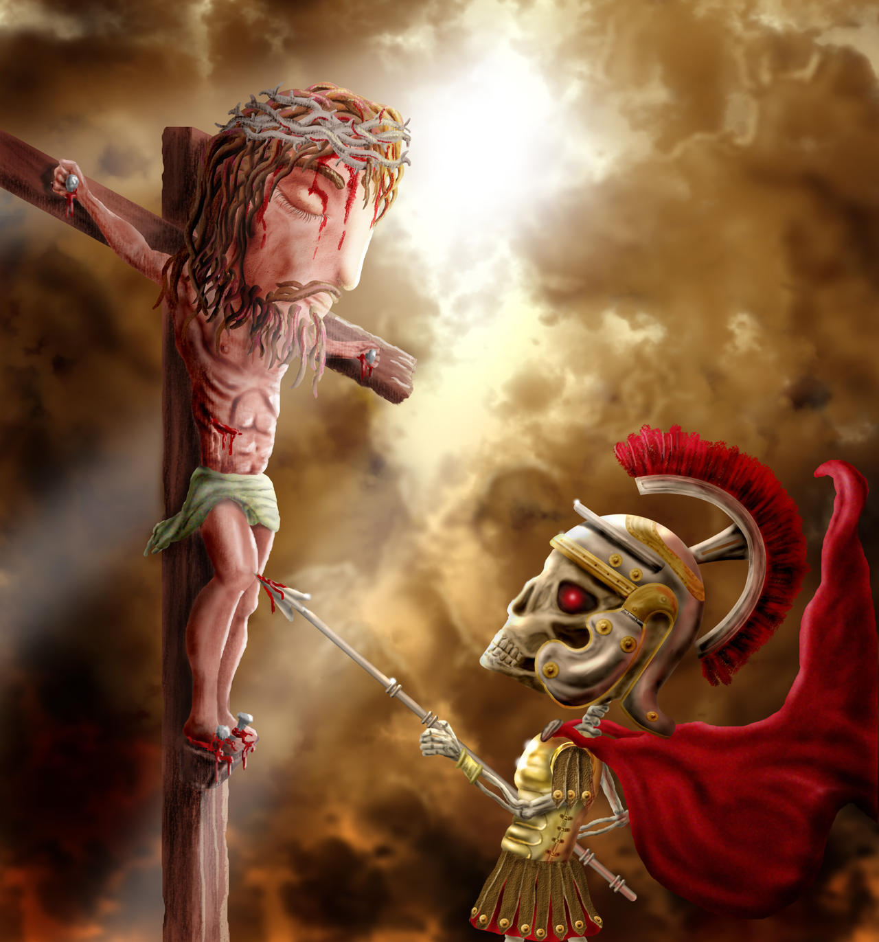 the crucifixion by todd1000 on deviantart