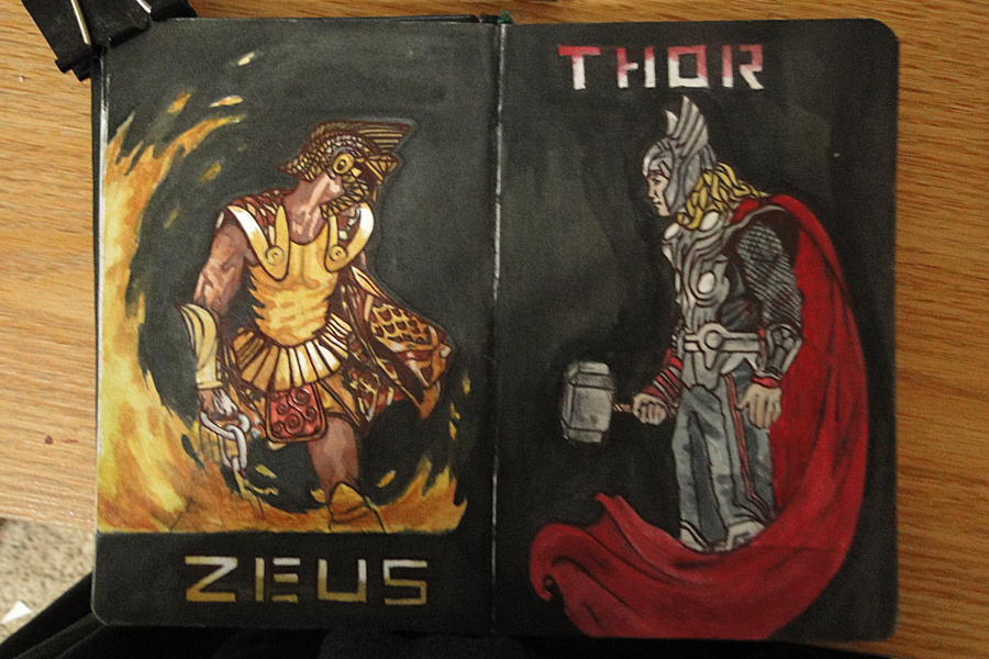 ZEUS vs THOR by chimeraARTS on DeviantArt