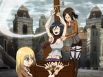 Ymir, Krista and Mikasa