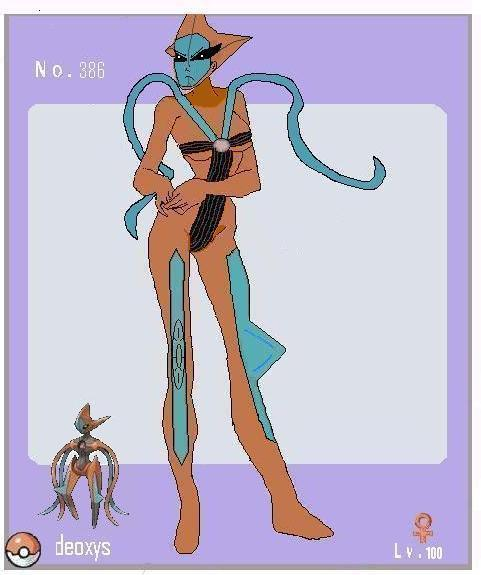 gijinka deoxys attack form by gamernotskater on DeviantArt