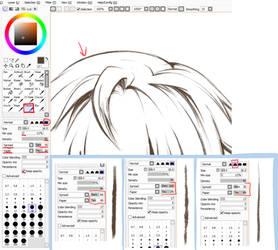 Paint Tool SAI. Crayon Settings