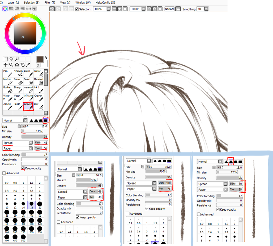 Paint Tool SAI  Crayon Settings by ayashige doodles. Paint Tool SAI  Crayon Settings by ayashige doodles on DeviantArt