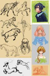 Doodle Dump 4 by ayashige-doodles