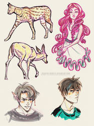 Sketch Dump #5 by ayashige-doodles