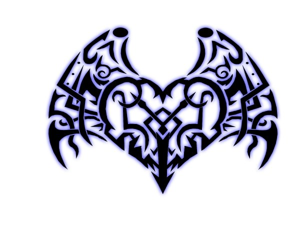 tribal heart with wings by JMNMB on DeviantArt