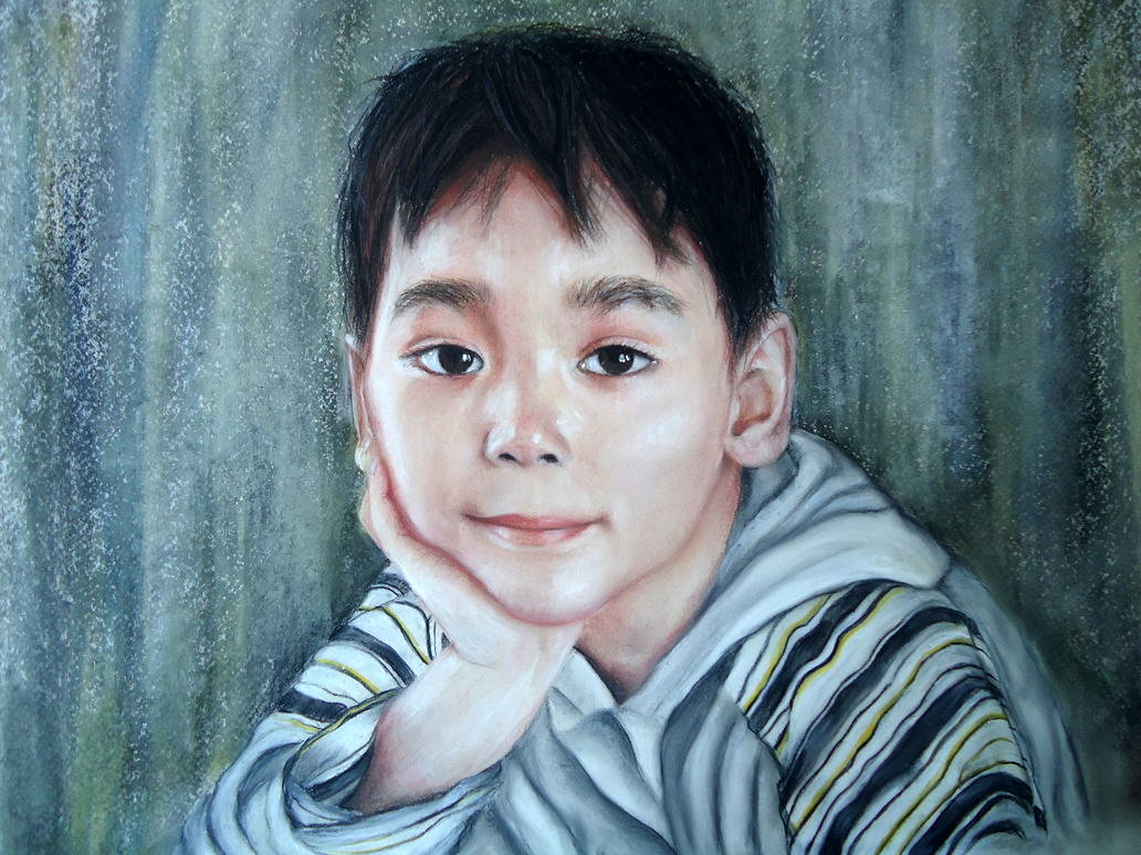 Soft pastel portrait of my son by blackblacksea