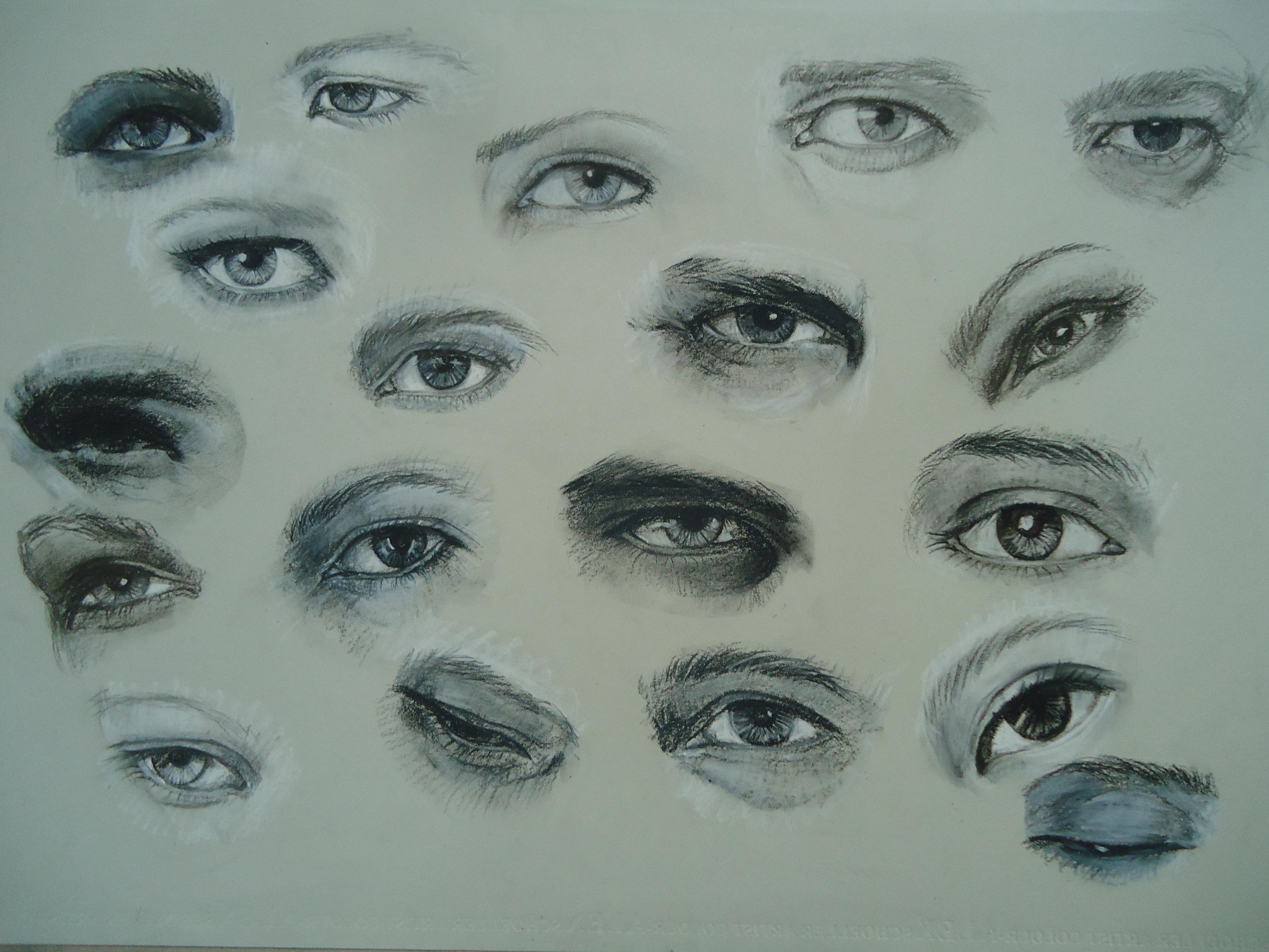 pastel pencil eye drawings by blackblacksea on DeviantArt