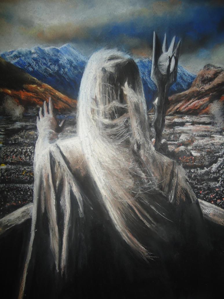 Soft Pastel Drawing The Saruman By Blackblacksea On Deviantart