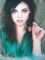 Pastel Drawing by blackblacksea