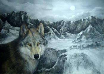 wolf by blackblacksea