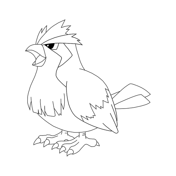 pidgey coloring page free pidgey template by behindclosedeyes00 on deviantart