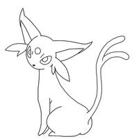 Free Espeon Template by BehindClosedEyes00