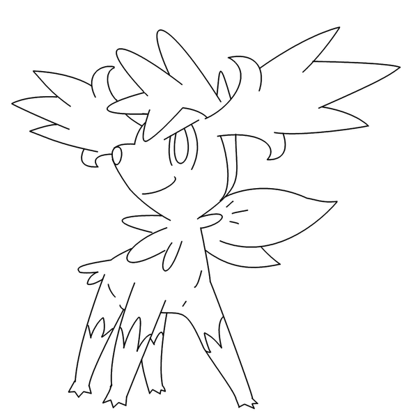 Legendary Pokemon Shaymin Coloring Pages Coloring Pages Shaymin Coloring Pages