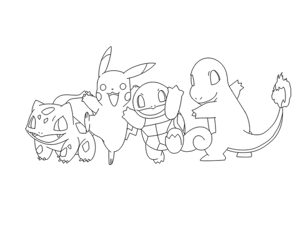 pokemon group coloring pages - photo#18